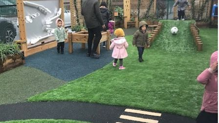 New outdoor learning area at Manorfield School. Picture: Paul Jackson