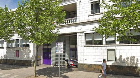 Positive East centre at 159 Mile End Road promoting HIV testing. Picture: Google