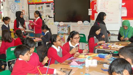 Brightest in the country... pupils at Mayflower Primary top SATS survey for reading, grammar and mat