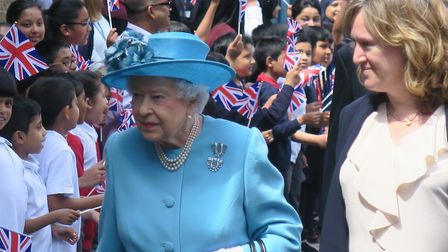 The Queen visits Mayflower Primary in summer of 2017 when school marked centenery of First World War
