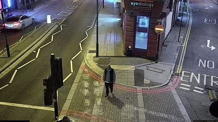 Caught on camera... rapist Jonathan Graden spotted in Commercial Street. Picture: Met Police