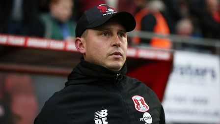 Leyton Orient's interim head coach Ross Embleton during the Sky Bet League Two match at the Breyer G
