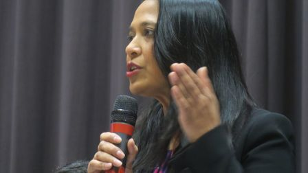"""Rushanara Ali... """"It's for Apsana Begum to reach out to the community she has deeply offended."""" Pict"""