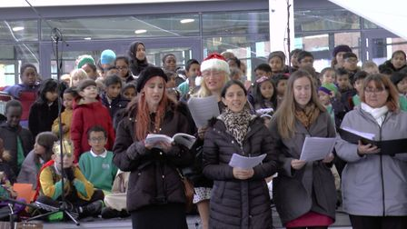 The Allen and Overy choir perform. Picture: Polly Bindman