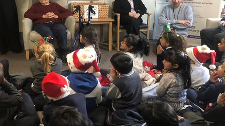 Children on visit to Silk Court care home. Picture: Anchor Hanover