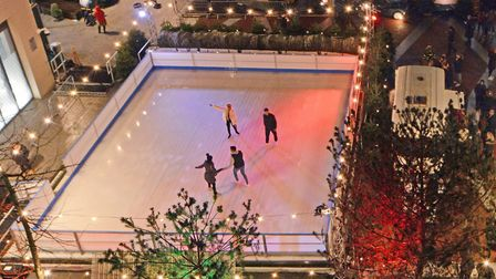 Ice rink at London City Island, near Canary Wharf, evenings until December 22. Picture: London City