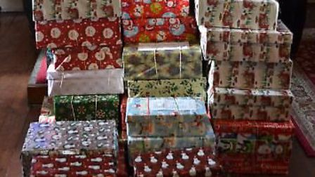 Tower Hamlets Council collected gifts and food to give to those living in poverty. Picture: Ron Jeff