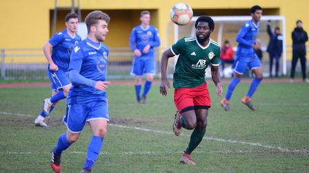 Action from Sporting Bengal's Essex Senior League clash with Walthamstow (pic Tim Edwards)