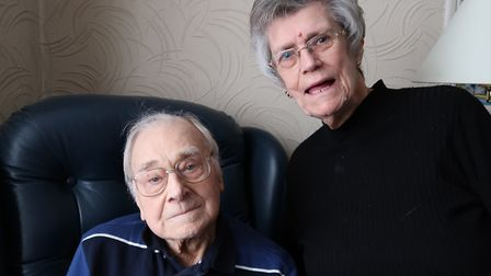 Charles Rumsey, 90, with wife Valerie... didn't have to be taken to hospital as NHS medical team tre