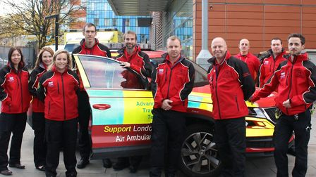 The 'rapid response' team at the Royal London on call to answer 999 emergencies treating patients on