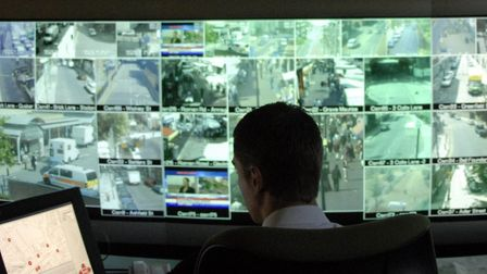 Tower Hamlets CCTV monitoring centre on Isle of Dogs tracking illicit street drug dealing. Picture: