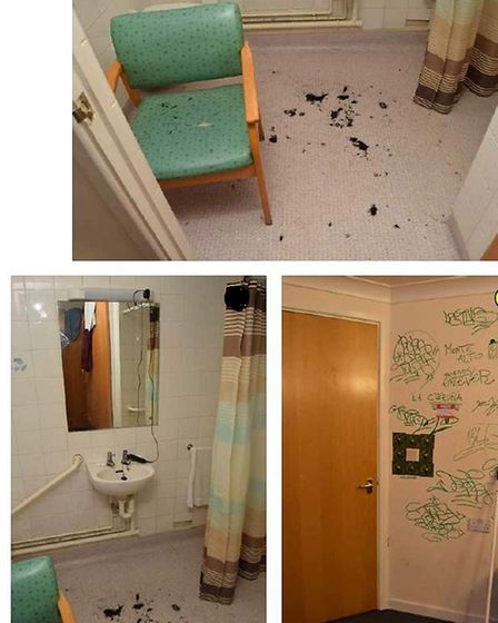The crime scene in Pat Shaw House, Bethnal Green. Picture: CPS
