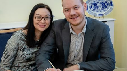 Rachel and Jonny are the first mixed sex couple recognised as a civil partnership by Tower Hamlets C
