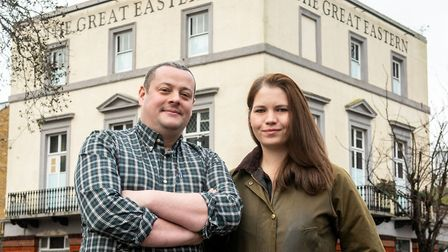 Sam Hawkes and Laura Lythall, new licensees of the Great Eastern, soon reverting to its original Wat