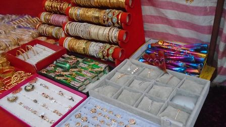 Some of the henna products seized in Whitechapel Market. Picture: LBTH