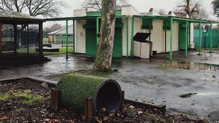 Desolate... One O'Clock toddlers' club in Vicky Park left abandoned by Tower Hamlets Council since s