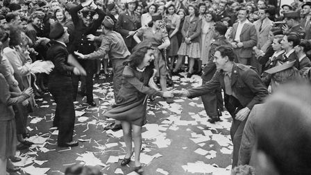 Dancing in the streets on VE Day, 1945. Picture: Imperial War Museum