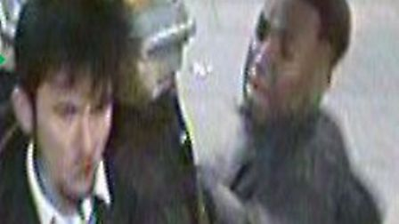 British Transport Police are appealing for the public's help to identify these two men after a boy w