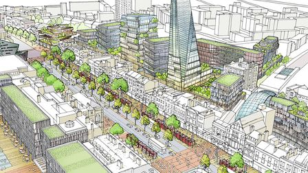 How Tower Hamlets town planners see the future of Whitechapel. Picture: LBTH