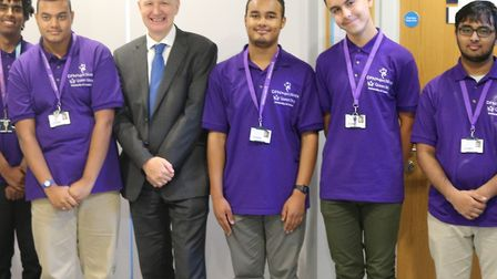 The five interns at Queen Mary's University. Picture: QMUL
