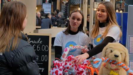 Brisk business as pupils set up their own stall in Spitalfields Market... Picture: Young Enterprise