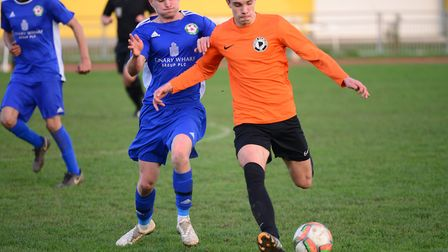 Action from the Essex Senior League derby between Tower Hamlets and Sporting Bengal United at Mile E