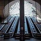 A quiet Canary Wharf Underground Station, the day after Boris Johnson put the UK in lockdown. Pictu