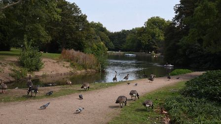 Victoria Park in Tower Hamlets is now closed due to coronavirus. Picture: Ken Mears