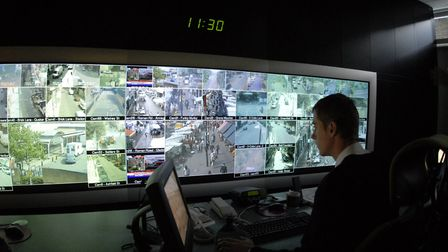 Keeping watch... Tower Hamlets CCTV monitoring centre on the Isle of Dogs. Picture: LBTH