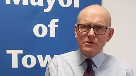 """Mayor John Biggs... """"We will get through this crisis as part of our strong community in the East En"""