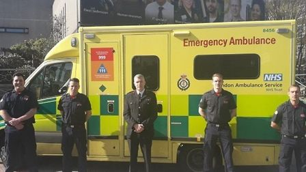 Paramedics at the Royal London Hospital in Whitechapel ready to go into action. Pictrure: LBTH