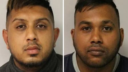 """Jailed rapist Nazmul Ahmed (left), described by a judge as a """"ruthless and callous sex predator"""", an"""