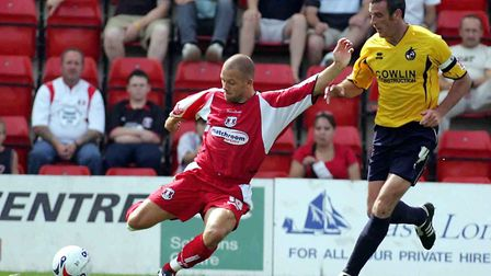 Lee Steele in action against Bristol Rovers during the 2005/06 promotion season (Pic: Simon O'Connor