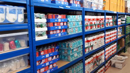 Well stocked... east London's foodbanks, now wiith guaranteed funding from a City investment bank. P