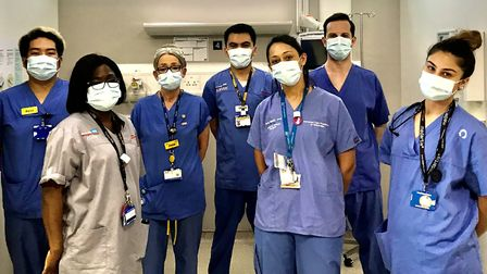 Members of The Royal London Hospital's accident and emergency department. Picture: Imen Reguzi