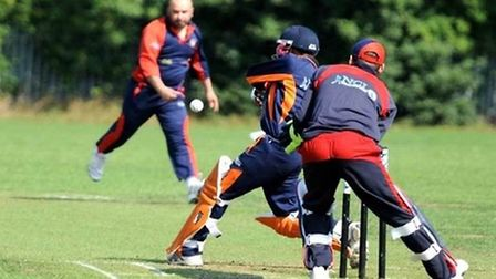 Action from the National Cricket League