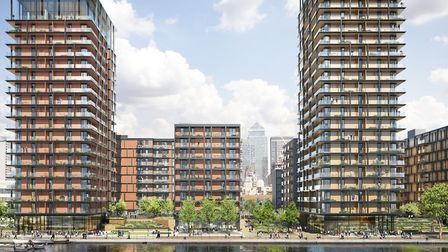 Scheme for 15,000 new homes on Isle of Dogs' former Westferry printworks. Picture: Mace developers
