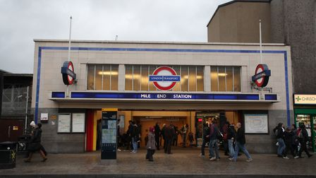 The incident happened at Mile End station. Picture: Isabel Infantes