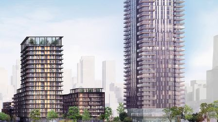 Wesferry scheme for 1,500 homes on Millwall waterfront at Isle of Dogs. Picture: Mace