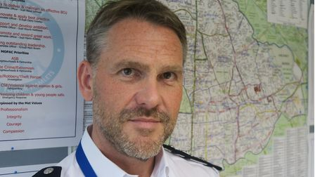 Met Police Commander Marcus Barnett at his Bethnal Green HQ. Picture: Mike Brooke
