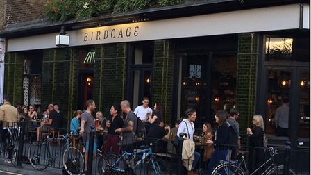 The Birdcage in Columbia Road... Staff tested for Covid regularly, but so far a clean bill of health