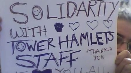 300 join trade union's online rally in dispute with Tower Hamlets Council