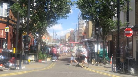 Roman Road Market already closes to traffic during trading times. Picture: Mike Brooke