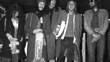 Peter Green, second left, with Fleetwood Mac in 1970. Picture: PA