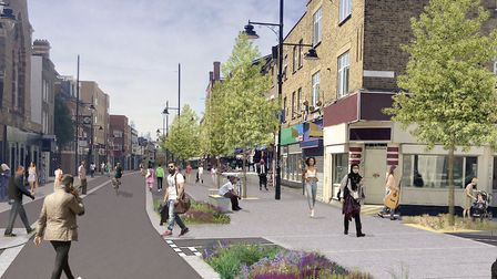 Traffic ban in Roman Road... one of 17 planned on Tower Hamlets mayor's check list. Picture: LBTH