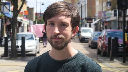 """Cllr Dan Tomlinson... """"I'm in Roman Road to hear both sides."""" Picture: Mike Brooke"""