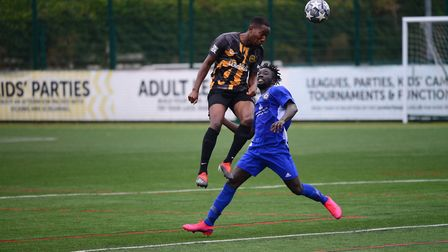 Action from the pre-season friendly between Hackney Wick and Sporting Bengal (pic Tim Edwards)