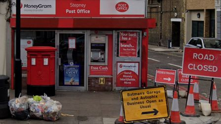 End of the road for rough-and-tumble Stepney post office with its lease up in Commercial Road. Pictu