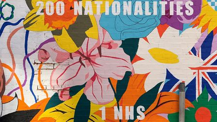 200 nationalities, but just one NHS... that's the message youngsters painted up in Wapping. Picture: