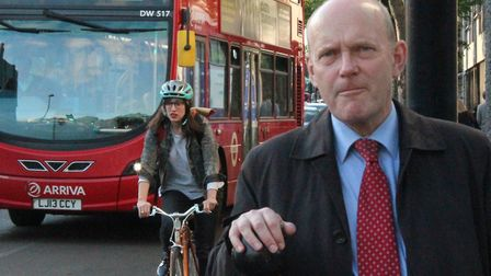 """Mayor Biggs... Bus gate """"has reduced the rat-running traffic"""". Picture: Mike Brooke"""